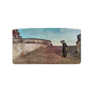 Giovanni Segantini - The first trade fair Custom Address Label
