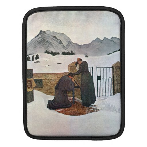 Giovanni Segantini - The pain of mourning iPad Sleeves