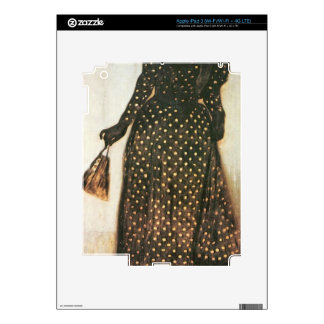 Giovanni Segantini - Woman with white-dotted dress iPad 3 Decal