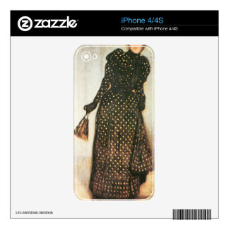 Giovanni Segantini - Woman with white-dotted dress iPhone 4S Decals