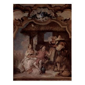 Giovanni Tiepolo Angelica Medorus with peasants Postcards