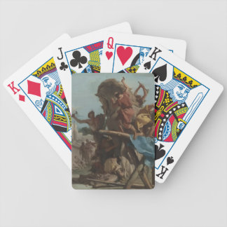 Giovanni Tiepolo- Building of the Troyan Horse Playing Cards