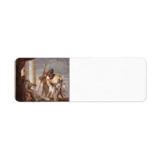 Giovanni Tiepolo:Dido disguised as Ascanius Custom Return Address Label