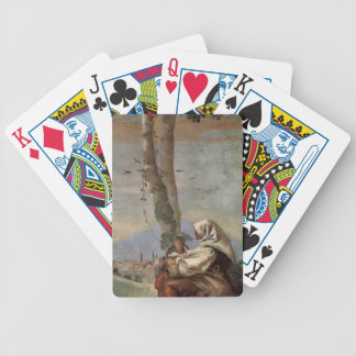 Giovanni Tiepolo: Landscape with sitting farmer Bicycle Card Deck