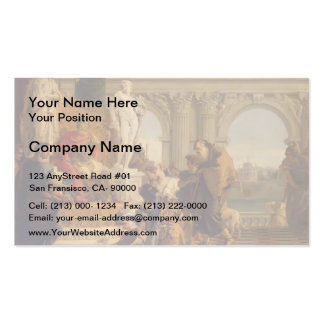 Giovanni Tiepolo-Maecenas Presenting Liberal Arts Double-Sided Standard Business Cards (Pack Of 100)