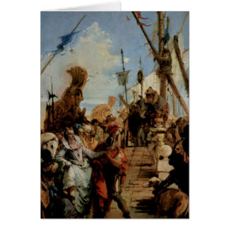 Giovanni Tiepolo- Meeting of Anthony and Cleopatra Greeting Card