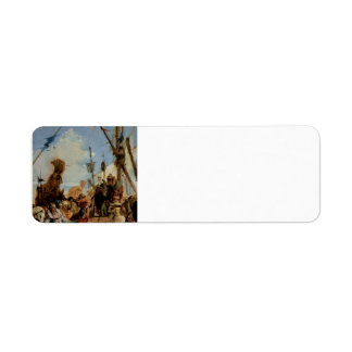 Giovanni Tiepolo- Meeting of Anthony and Cleopatra Return Address Label