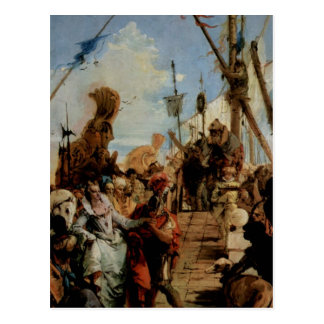 Giovanni Tiepolo- Meeting of Anthony and Cleopatra Postcard