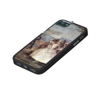 Giovanni Tiepolo-Minuet with Pantaloon & Colombine iPhone 5 Case