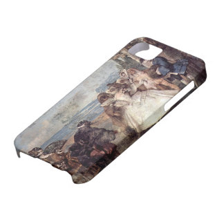 Giovanni Tiepolo-Minuet with Pantaloon & Colombine iPhone 5/5S Cases