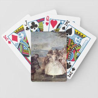 Giovanni Tiepolo-Minuet with Pantaloon & Colombine Card Deck