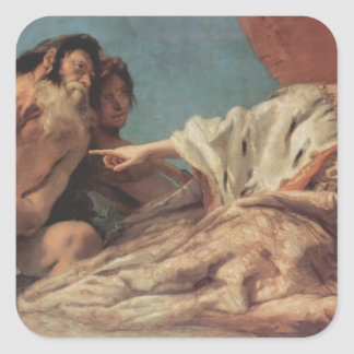 Giovanni Tiepolo- Neptune Offering Gifts to Venice Stickers