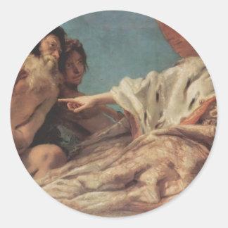 Giovanni Tiepolo- Neptune Offering Gifts to Venice Sticker