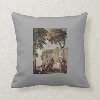 Giovanni Tiepolo:Peasant Family at Table Pillow