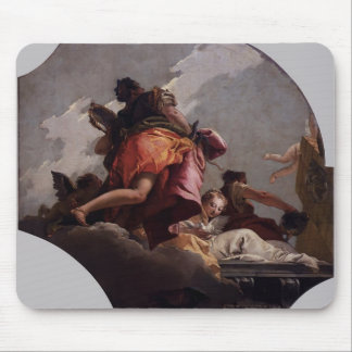 Giovanni Tiepolo- Prudence Sincerity Temperance Mousepad