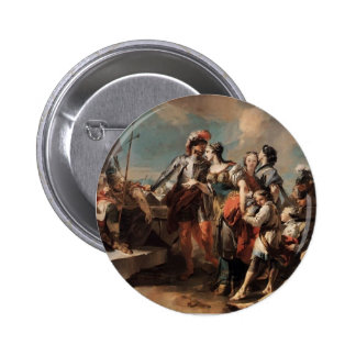 Giovanni Tiepolo:Queen Zenobia&Emperor Aurelianus Buttons