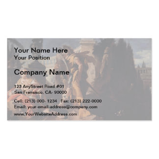 Giovanni Tiepolo-Rinaldo observed by Carlo &Ubaldo Double-Sided Standard Business Cards (Pack Of 100)