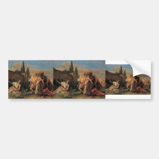 Giovanni Tiepolo- Rinaldo's Departure from Armida Bumper Sticker