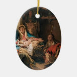 Giovanni Tiepolo- The Adoration of the Shepherds Christmas Tree Ornaments