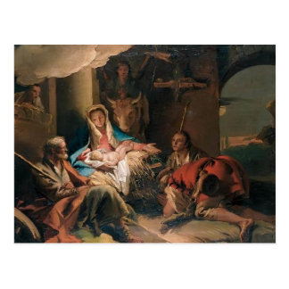Giovanni Tiepolo- The Adoration of the Shepherds Post Card