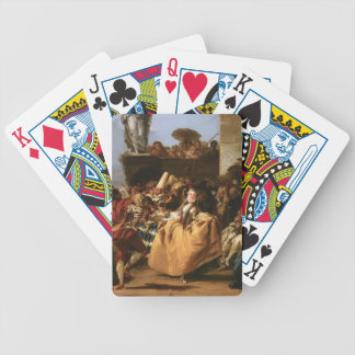 Giovanni Tiepolo- The Minuet or Carnival Scene Bicycle Poker Cards