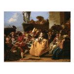 Giovanni Tiepolo- The Minuet or Carnival Scene Post Card