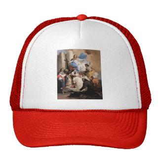 Giovanni Tiepolo- The Virgin with Six Saints Hats