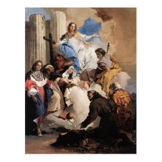 Giovanni Tiepolo- The Virgin with Six Saints Postcard