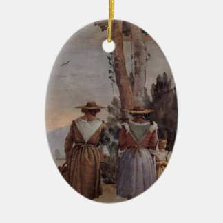 Giovanni Tiepolo: Two Peasant Women and a Child Ornaments