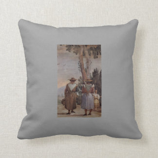 Giovanni Tiepolo: Two Peasant Women and a Child Throw Pillows