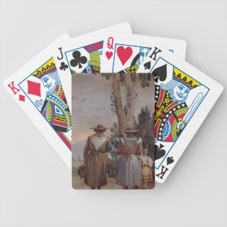 Giovanni Tiepolo: Two Peasant Women and a Child Card Deck
