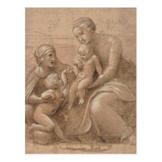 Giovannino e Sant Elisabet del san del bambino del Tarjetas Postales