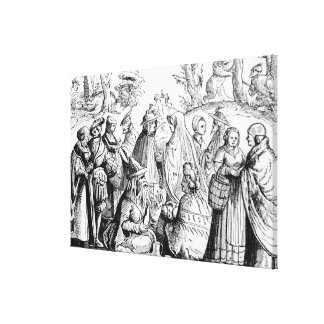 Gipsies fortune telling, after a woodcut in 'Cosmo Canvas Print