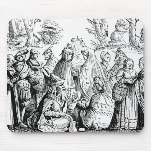Gipsies fortune telling, after a woodcut in 'Cosmo Mouse Pad