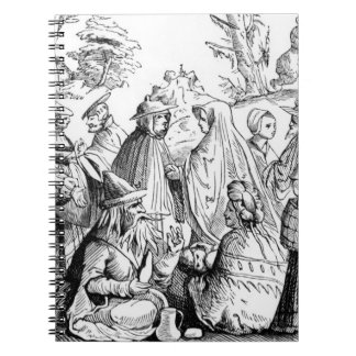 Gipsies fortune telling, after a woodcut in 'Cosmo Notebook