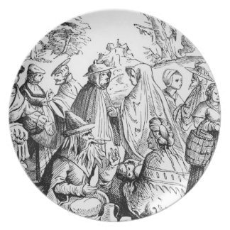 Gipsies fortune telling, after a woodcut in 'Cosmo Plate