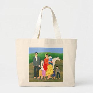 Gipsy Family 1986 Large Tote Bag