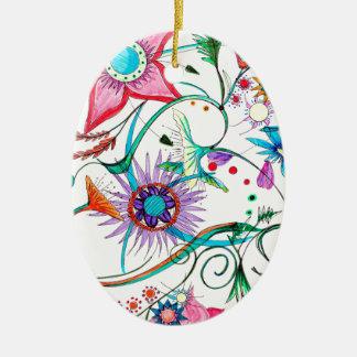 Gipsy garden ceramic ornament