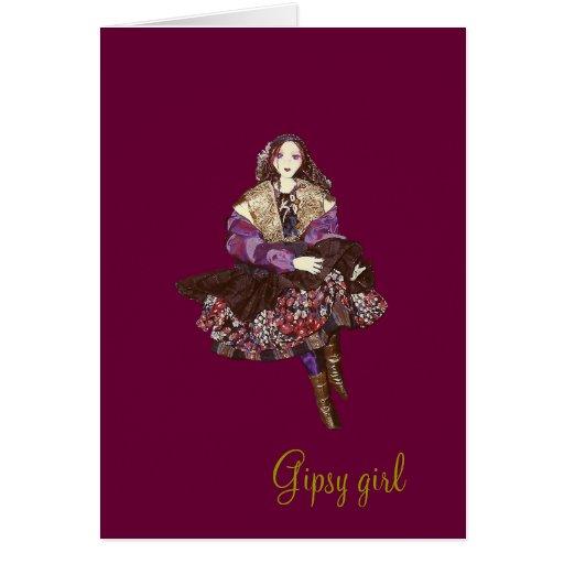 Gipsy girl greeting card