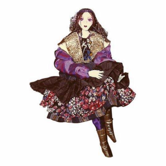 Gipsy girl statuette