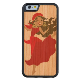 Gipsy pinup dancer carved cherry iPhone 6 bumper case