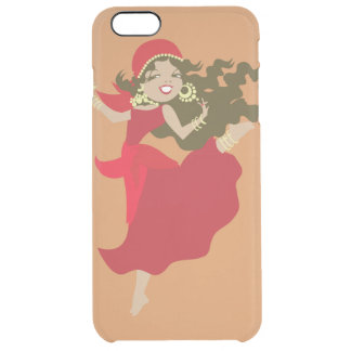 Gipsy pinup dancer clear iPhone 6 plus case