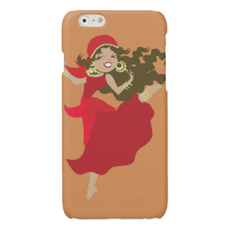 Gipsy pinup dancer glossy iPhone 6 case