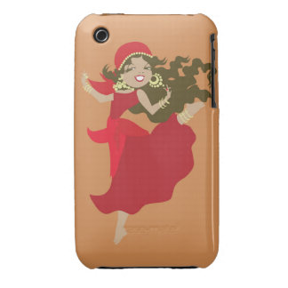 Gipsy pinup dancer iPhone 3 Case-Mate case