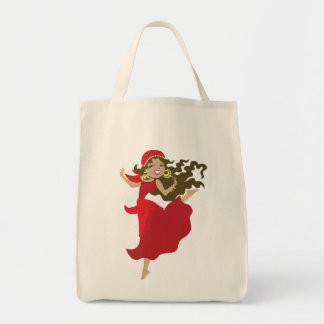 Gipsy pinup dancer tote bag
