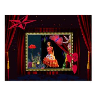 Gipsygirl in Wonderland Postcard