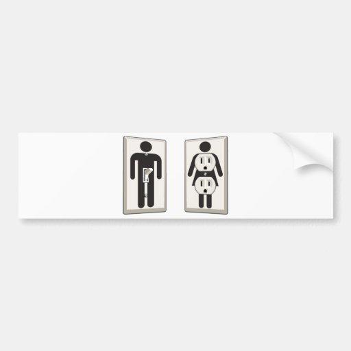 Girado interruptor y zócalo masculinos y femeninos etiqueta de parachoque