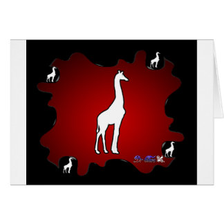 GIRAFE GIFTS CUSTOMIZABLE PRODUCTS GREETING CARD