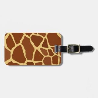 Giraff Print Travel Bag Tags