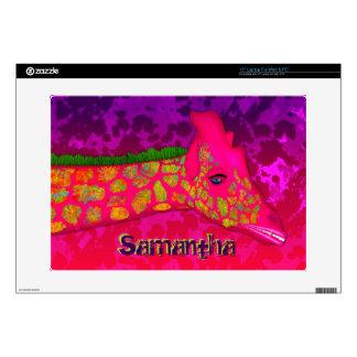 Giraffe-15in Vinyl Laptop Skin